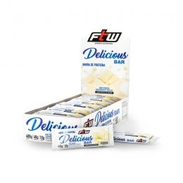 Delicious Bar Caixa Com 12 Barras 480g - Sabor Chocolate Branco - FTW